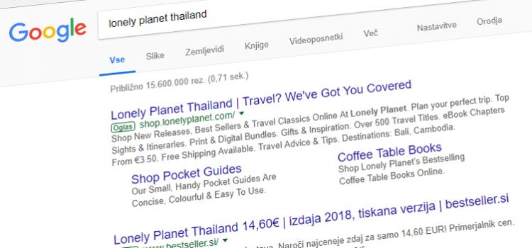 Že uporabljate tretjo vrstico v Google oglasih?